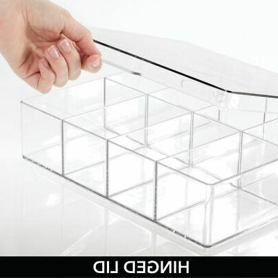 mDesign Tea Sections, Clear
