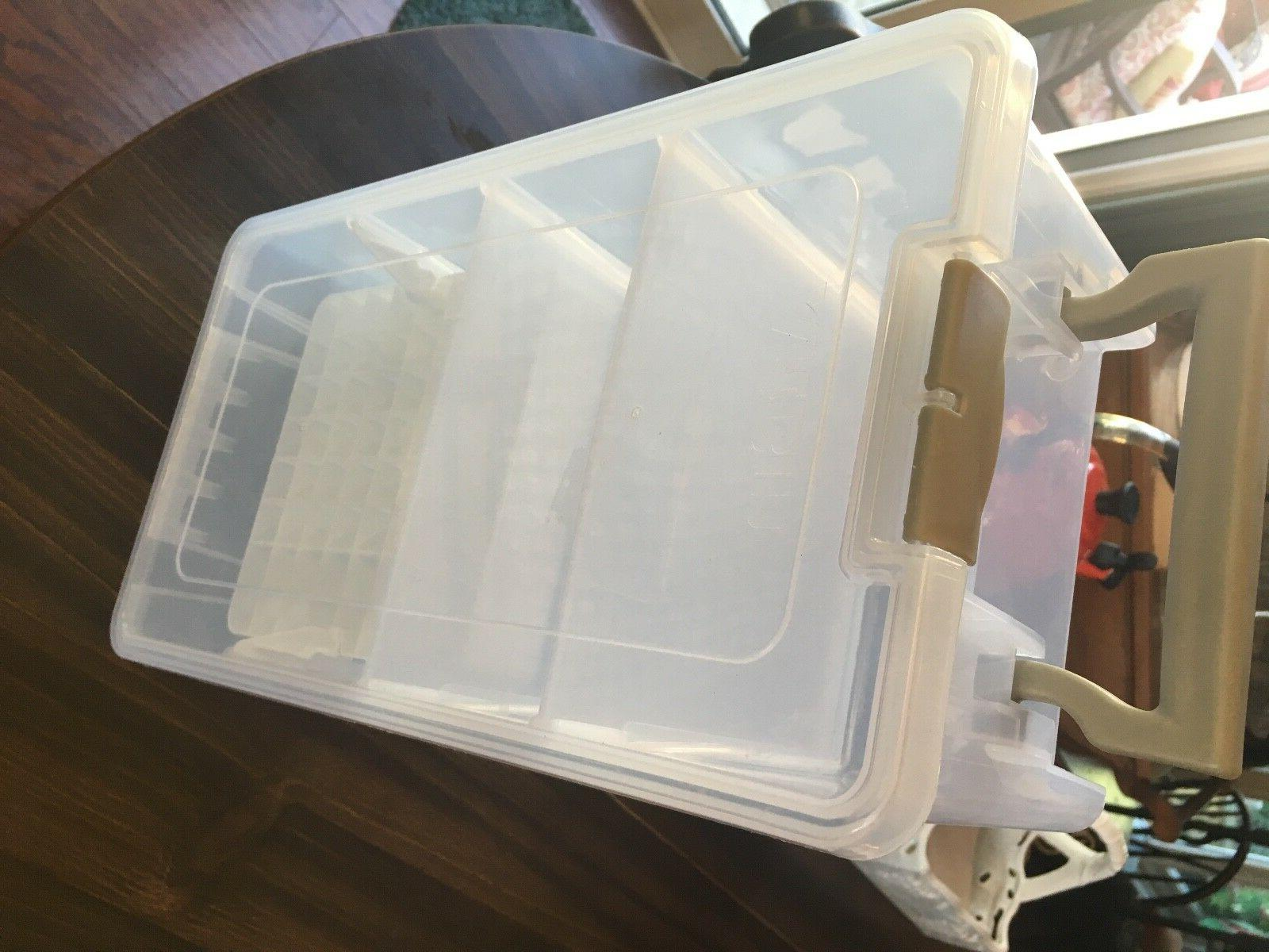 translucent art craft supply plastic storage box