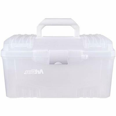 Transparent 6918AH Twin Art Supply Storage Clear Crafts