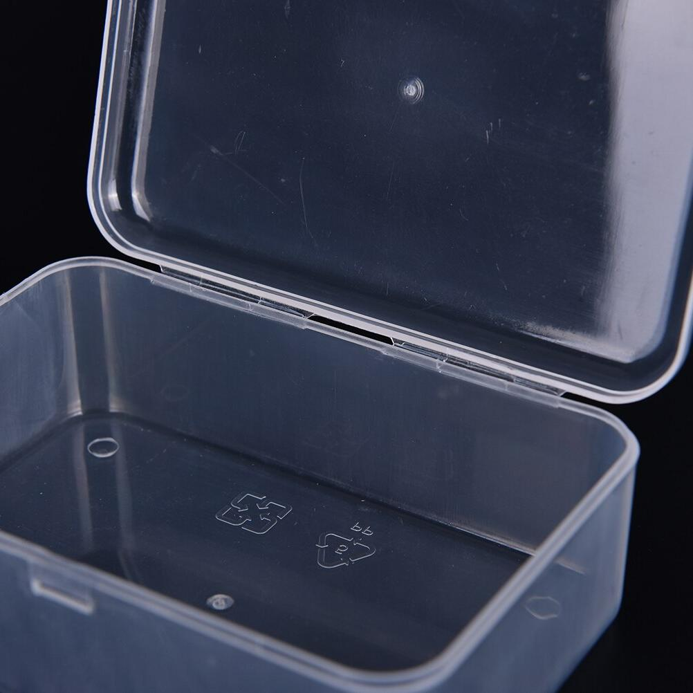 Transparent Plastic <font><b>Storage</b></font> Jewelry Display Cosmetics Collection Parts Case <font><b>Home</b></font> <font><b>Organization</b></font> Beads Case