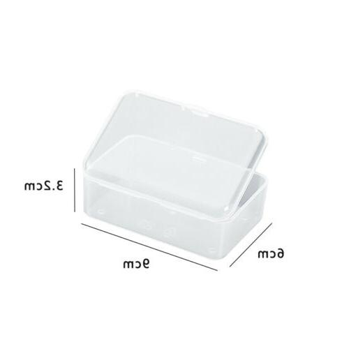 Transparent Storage Box Clear Rubber Cosmetic Jewelry Box
