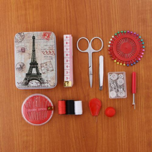 Travel Sewing Kit Needle and Thread Kit with Storage Box for