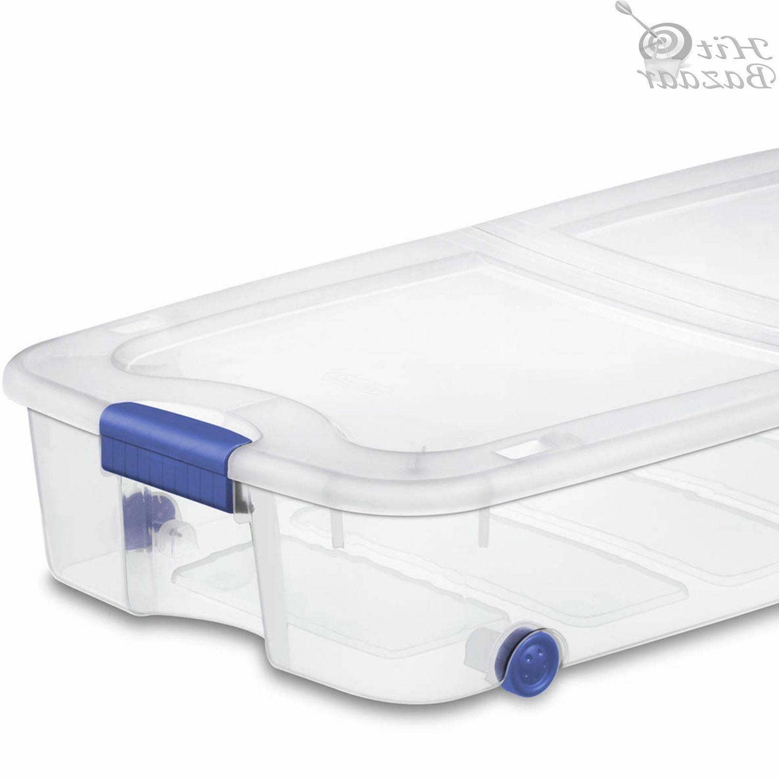 UNDER BED Containers Latching 66 Qt