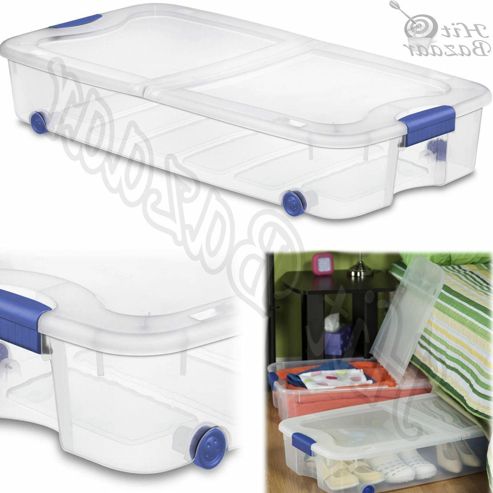 UNDER BED Containers Tubs 66 Organizer 4pc