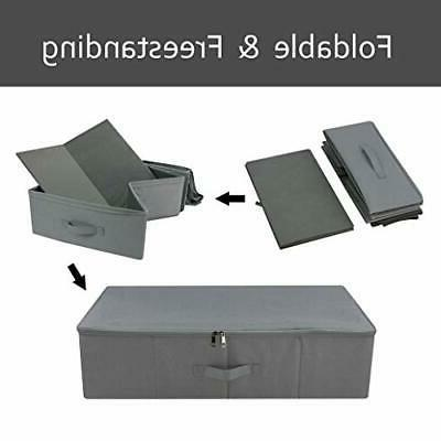 Under Bed Underbed Box with Lid, Blan