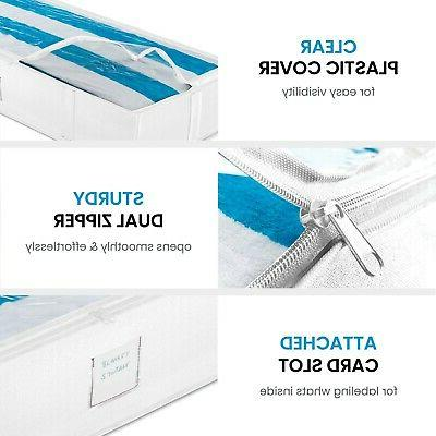 Underbed Storage Organizer Large Capacity Storage for Blankets