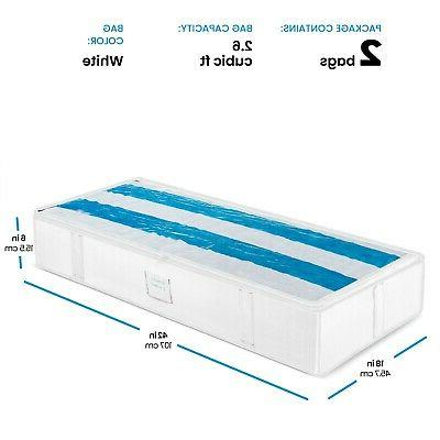 Underbed Storage Large Capacity Storage Box for Blankets
