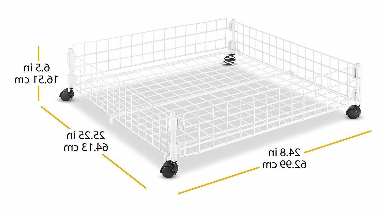 Storage Under Bed Hidden Wheels Box Rolling Drawer