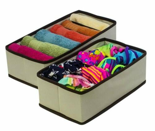 Collapsible Organizer Drawer Dividers Box 4 Set 4
