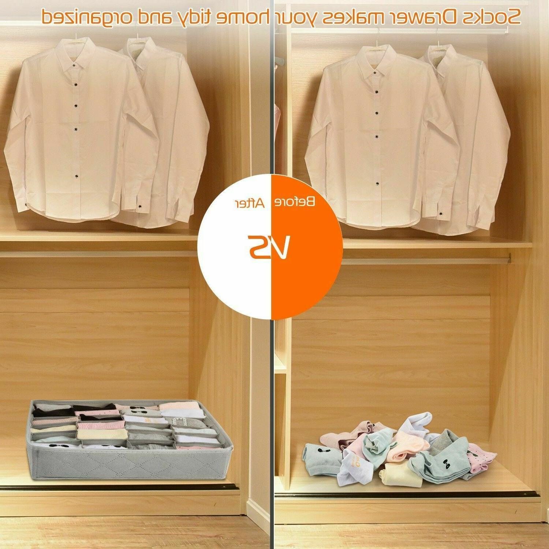 US 3Pcs Bra Underwear Storage Bamboo