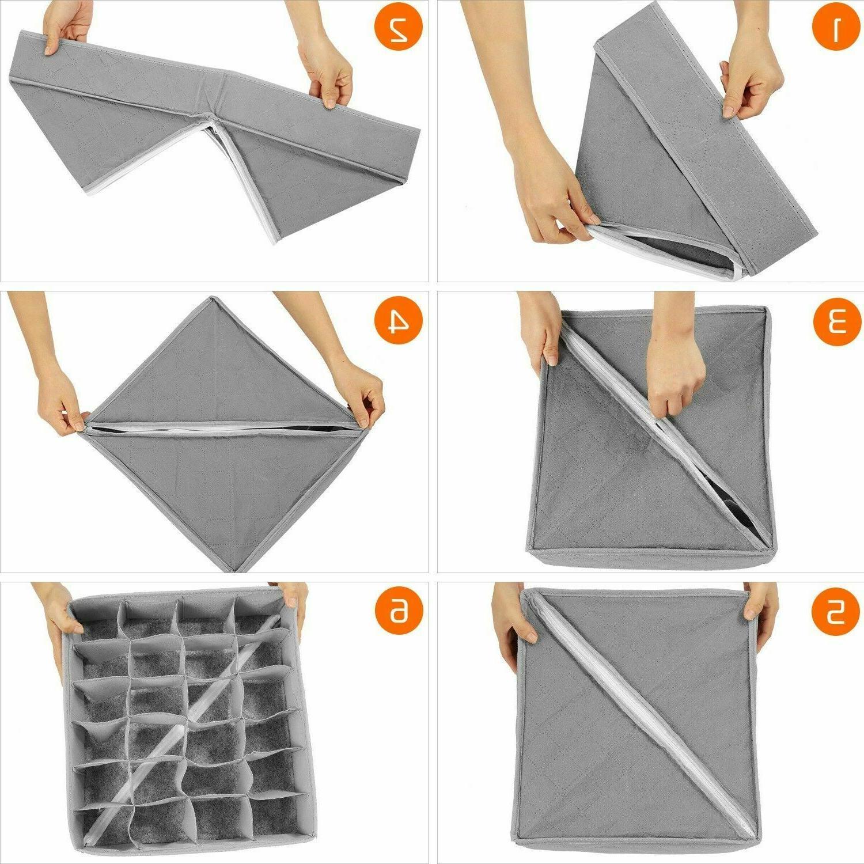 US 3Pcs Sock Underwear Drawer Storage