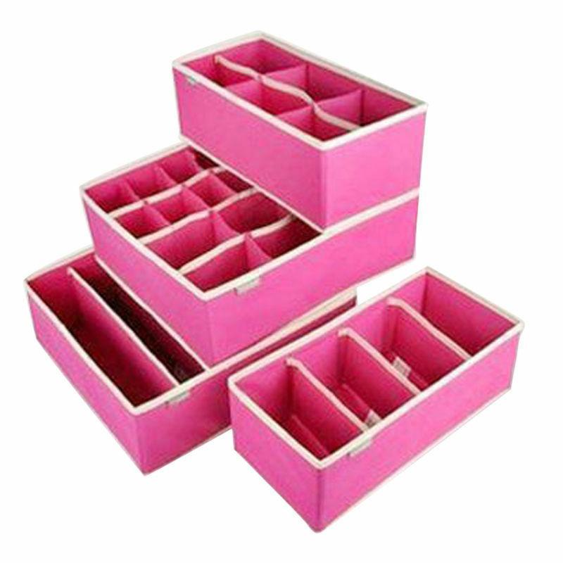 4PCS Storage Box Bra Underwear