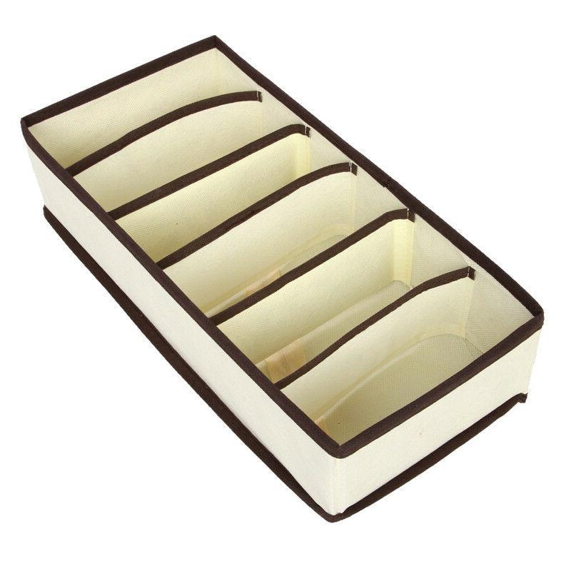 4PCS Foldable Organizer Storage Box Bra Ties Underwear US