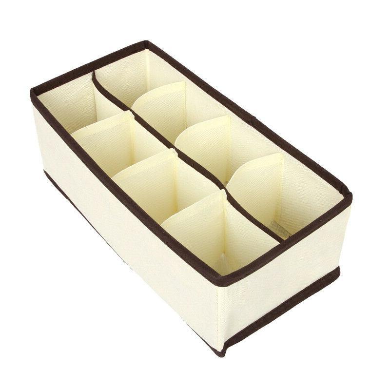 US 4pcs Organizer Drawer Storage Holder Box Bra Socks Lots