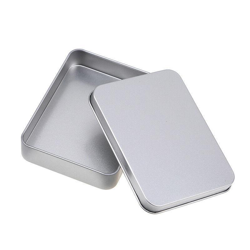 US Tin Silver Box Case