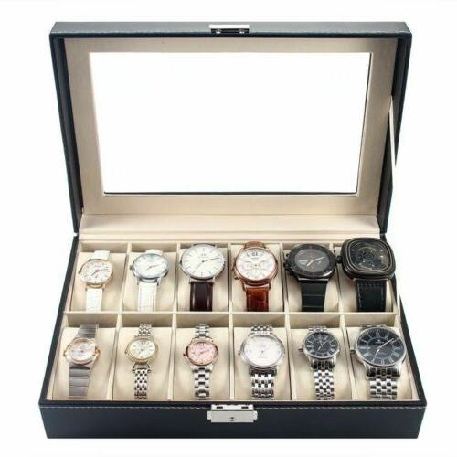 USA Slot Men Watch Box Display Case Storage