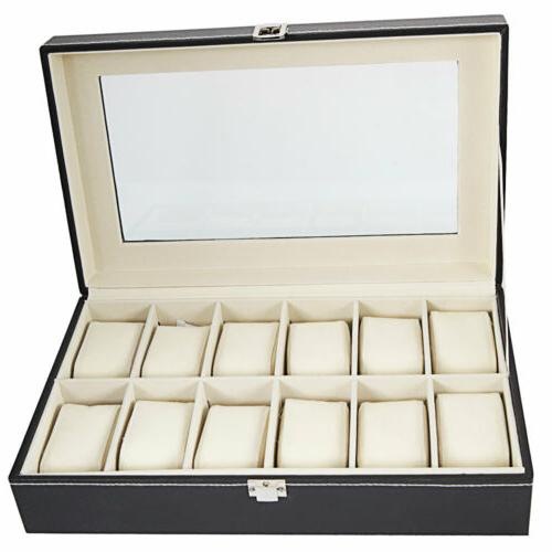 USA 12 Watch Box Case Organizer Storage