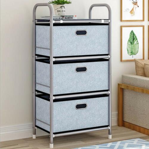 3 Drawers Storage Shelf Chest Unit Storage Cabinet Closet Or