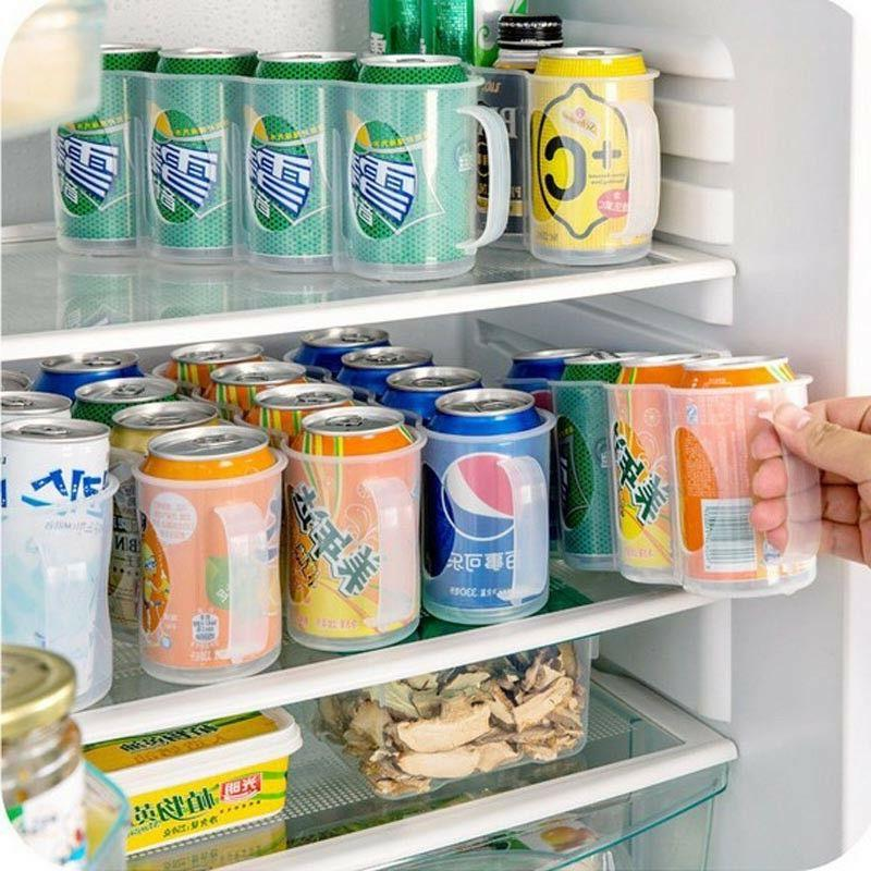 Useful Refrigerator Storage Kitchen Accessories Beverage Can Space-saving