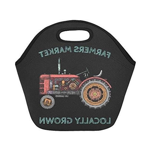 vintage agricultural tractor farmers reusable