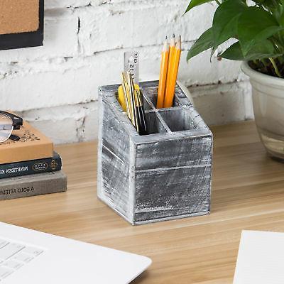 MyGift Wood Pencil Holder