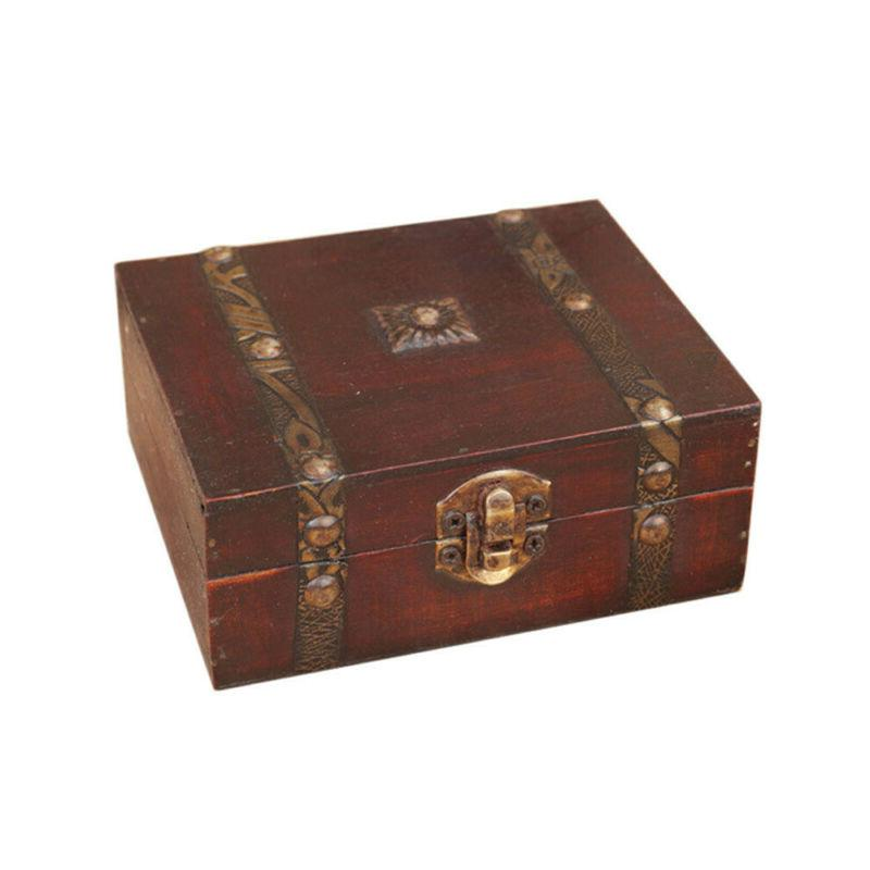 handmade vintage wooden treasure case home decor
