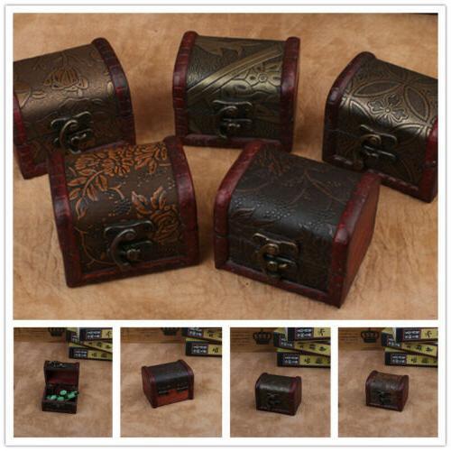vintage decorative trinket small wooden boxes storage