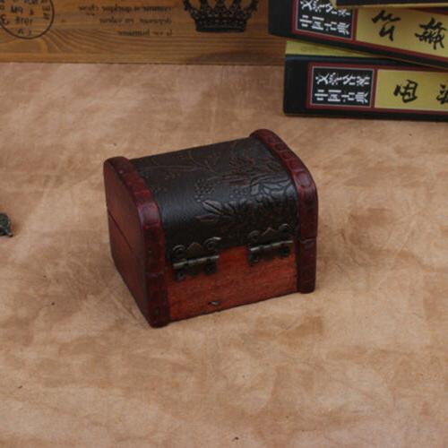 Vintage Wooden Small Storage Box Treasure