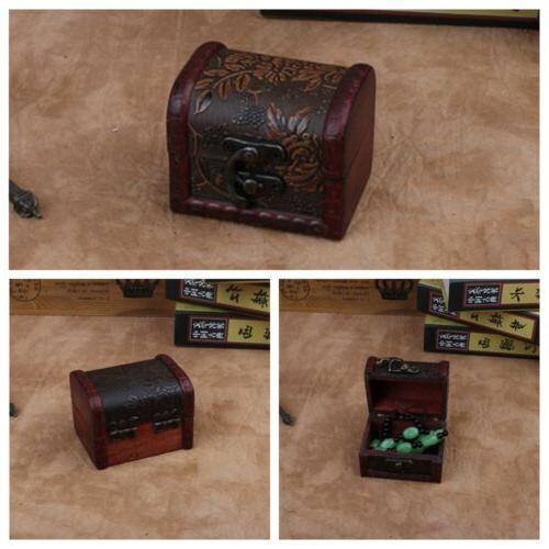 vintage wooden decorative trinket small boxes storage