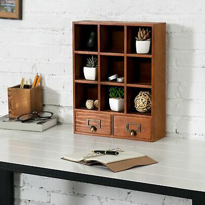 Vintage Display with 2 Drawers 9