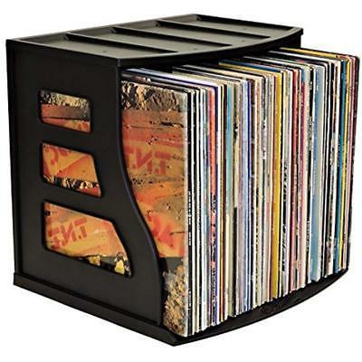 Vinyl Record Storage Crates LP Album Box Holds Over 75 LPs R