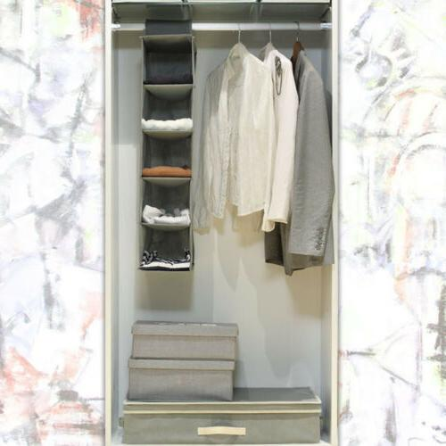 Wardrobe Storage Bag Drawer Box Hanging Clothes Holder