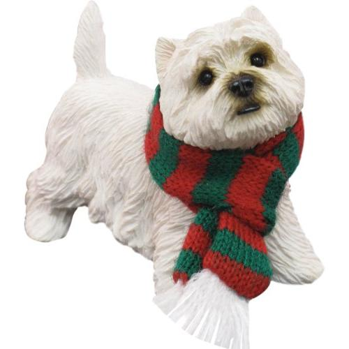 westie white terrier dog ornament