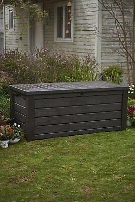 Keter Westwood Deck Storage Container Patio Garden Gal,