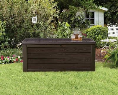 Keter Westwood Plastic Deck Storage Container Box Outdoor Pa