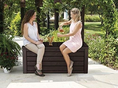 Keter Storage Patio Garden Furniture Gal, Brown