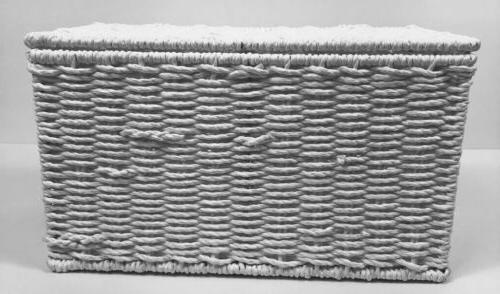 Household Essentials White Rope Storage
