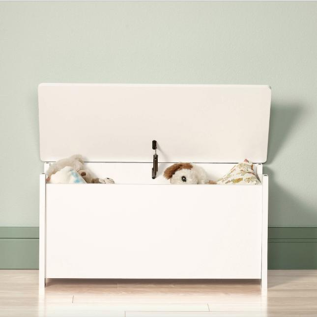 White Toy Chest Kids Bedroom