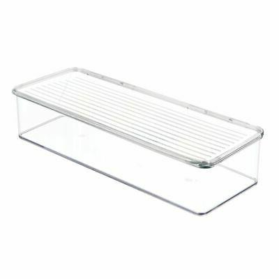 mDesign Wide Organizer with for Bathroom Clear