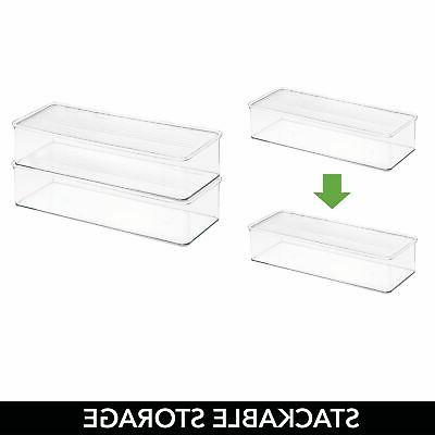 mDesign Storage Organizer Box Clear