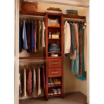 ClosetMaid Wood Closet System 48 in. W - 108 in. W Dark Cher