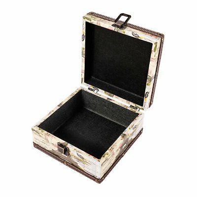Wood Jewelry Keepsake Box Tower Decorative Boxes
