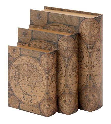 wooden book storage benzara leather