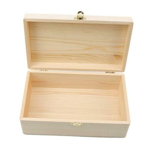 wooden box storage with lid hinges boxes