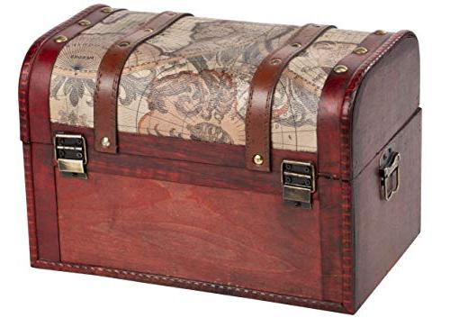 Juvale Trunk, 3-Piece Storage Trunk Chests - - Pirate Chest in Sizes