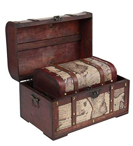 Juvale 3-Piece Storage and Chests Pattern - Antique - Pirate Treasure Chest in