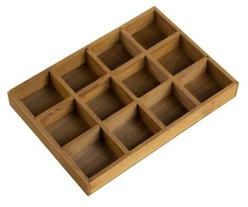 wooden desk drawer organizer divided storage box