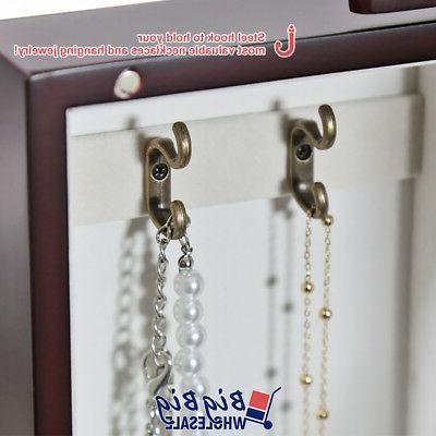 Wooden Cabinet Box Drawer W/ Mirror