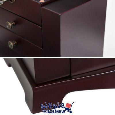 Wooden Cabinet Box Drawer Mirror