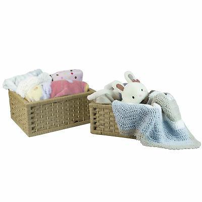 Woven Baskets, Storage Bins, Set